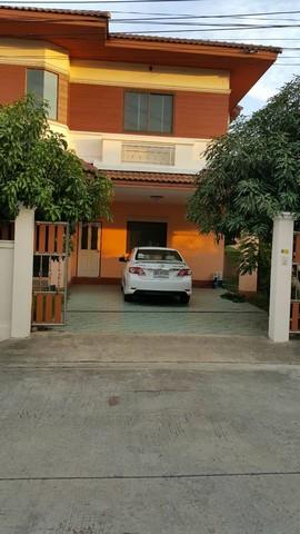 ขายบ้านเดี่ยว 2 ชั้น หลังใหญ่  หมู่บ้านเฟื่องสุข  4 จังหวัด นนทบุรี  เนื้อที่  54  ตารางวา