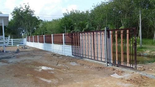 รับทำรั้ว รั้วระแนง รั้วคาวบอย รั้วคอนกรีต รับทำประตูรั้วทุกชนิด