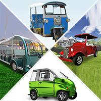 รถยนต์พลังงานไฟฟ้า 100% รถกอล์ฟไฟฟ้า รถบัสไฟฟ้า ใช้งานโรงแรม สนามกอล์ฟ