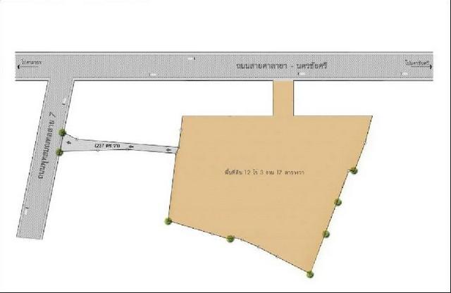 ขายที่ดินริมถนนศาลายา-นครชัยศรี จังหวัดนครปฐม  ใกล้เซ็นทรัลศาลายา ผังเมืองสีชมพู