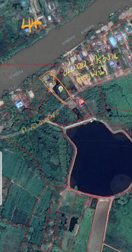 ที่ดินติดแม่น้ำบางประกง 1ไร่ 3งานใกล้วัดสง่างาม แบ่งขายด้านข้างติดคลองสาธารณะ