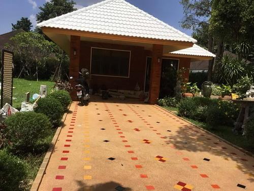 บ้านสวยในหมู่บ้านวังตาล บรรยากาศบ้านสวน หางดง เชียงใหม่