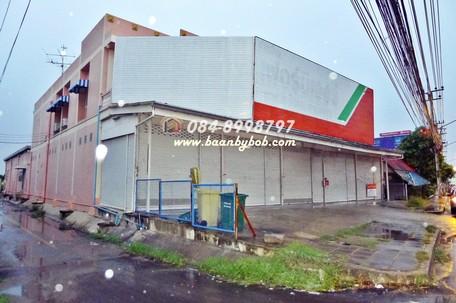 ให้เช่า ตึกโกดัง 2 ชั้น ติดถนนกาญจนาภิเษก ใกล้ตลาดสมบัติบุรี  บางใหญ่
