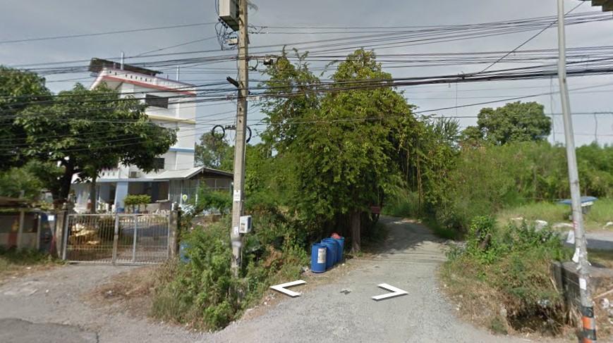 ที่ดินราคาประเมิน ติดถนนบางนาตราด 243 ตรว. หน้ากว้าง 10 ม. บางบ่อ ผังสีม่วง
