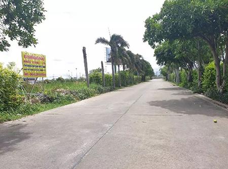 ขายที่ดินเปล่า ตรงข้ามเมกาบางนา ใกล้สนามบินสุวรรณภูมิ แบ่งขายได้ 115 ตรว. ถึง 3 ไร่