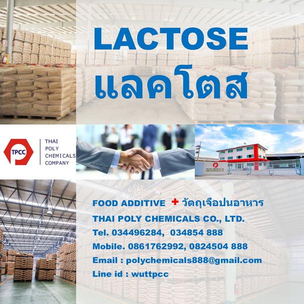 แลคโตส, Lactose, แลคโตสเกรดอาหาร, Edible Lactose, เกรดอาหาร, วัตถุเจือปนอาหาร