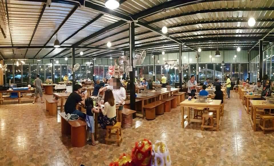 เซ้ง‼️ ร้านบุฟเฟต์หมูย่าง&ทะเลเผา ชลบุรี เส้นถนนอ่างศิลา @อำเภอเมือง ชลบุรี