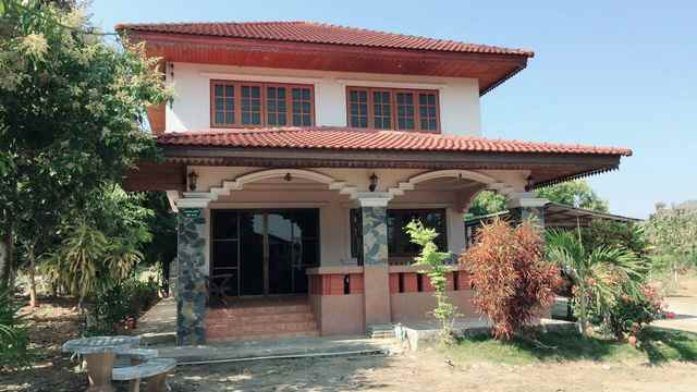ขายบ้านเดี่ยวพร้อมที่ดิน 1 ไร่ 2 ชั้น บ้านโฮ่ง ลำพูน ด้านหลังติดเขา ใกล้ วิทยาลัยอาชีพบ้านโฮ่ง