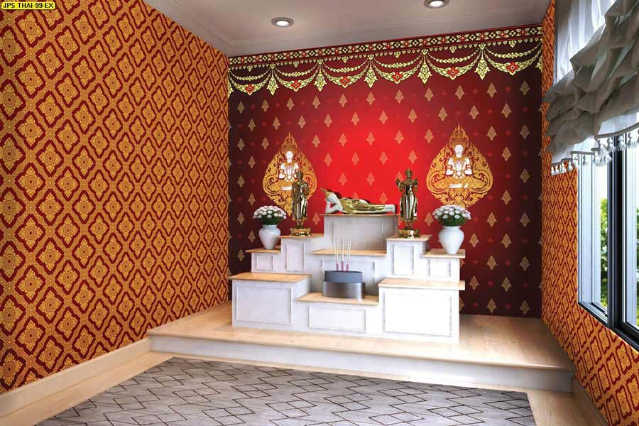 print wallpaper ลายไทยราคาถูก จอมทอง ดอนเมือง