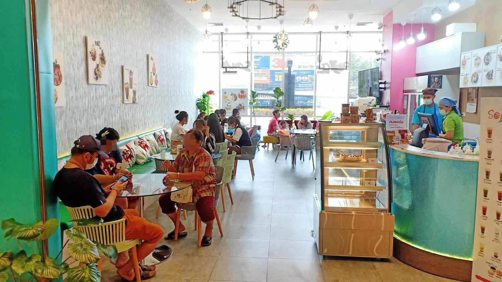 เซ้ง‼️ ร้านบิงซู-ชานม สไตล์คาเฟ่ ติดร้านMKสุกี้ @ห้างแพชชั่นระยอง (แหลมทองระยอง) ชั้น1