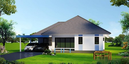 ขายโครงการบ้านพิมตะวัน บ้านเดี่ยวชั้นเดียว  จังหวัดเชียงใหม่  เนื้อที่ 50 ตารางวา