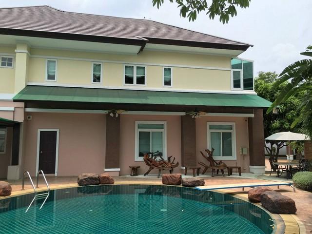 ให้เช่าบ้านเดี่ยว 2 ชั้น หมู่บ้านพิมานดาเซน  พร้อมสระว่ายน้ำส่วนตัว บางพลี